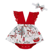 Citgeett-Summer-Christmas-Infant-Baby-Girl-Clothes-Lace-Romper-Dress-Headband-Xmas-Set-Festival-Outfits